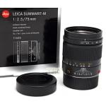 Leica 75mm f2.5 SUMMARIT-M 6-BIT BLACK LENS #11645 USED