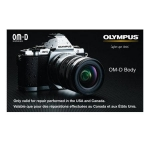 Olympus 2 Year Extended Warranty for Olympus OM-D Cameras!