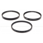 B+W/HELIOPAN 67MM NL2 & NL3 CLOSE-UP + UV HAZE (SET OF 3) FILTER SET USED