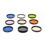 B+W, TIFFEN, & HELIOPAN 55MM FILTERS (SET OF 9) WITH CASE USED