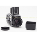 HASSELBLAD 203FE CHROME MEDIUM FORMAT CAMERA KIT USED with 80MM F/2.8 FE LENS + E12 FILM BACK + WAIST LEVEL FINDER