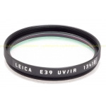 LEICA 39MM UV/IR BLACK FILTER #13410 USED