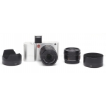 LEICA T (TYPE 701) SILVER MIRRORLESS DIGITAL CAMERA KIT #18181 USED-MINT w/ 18-56MM LENS #11080 & 23MM LENS #11081