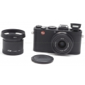 LEICA X2 BLACK DIGITAL COMPACT CAMERA #18450 USED WITH EXTRAS!