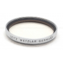 LEICA LEITZ 39MM UVA SILVER FILTER USED