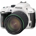 Pentax K-50 WATER RESISTANT Digital SLR Camera with 18-135mm f/3.5-5.6 Lens (WHITE) NEW