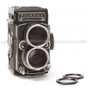 ROLLEI TELE-ROLLEIFLEX TLR FILM CAMERA USED