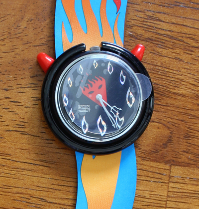 swatch pmb103 hot stuff halloween special watch new