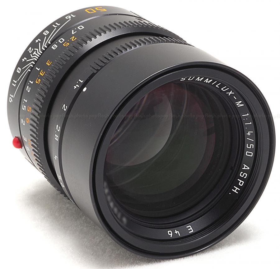 LEICA 50MM F/1.4 ASPH. SUMMILUX-M 6-BIT BLACK LENS #11891 USA NEW