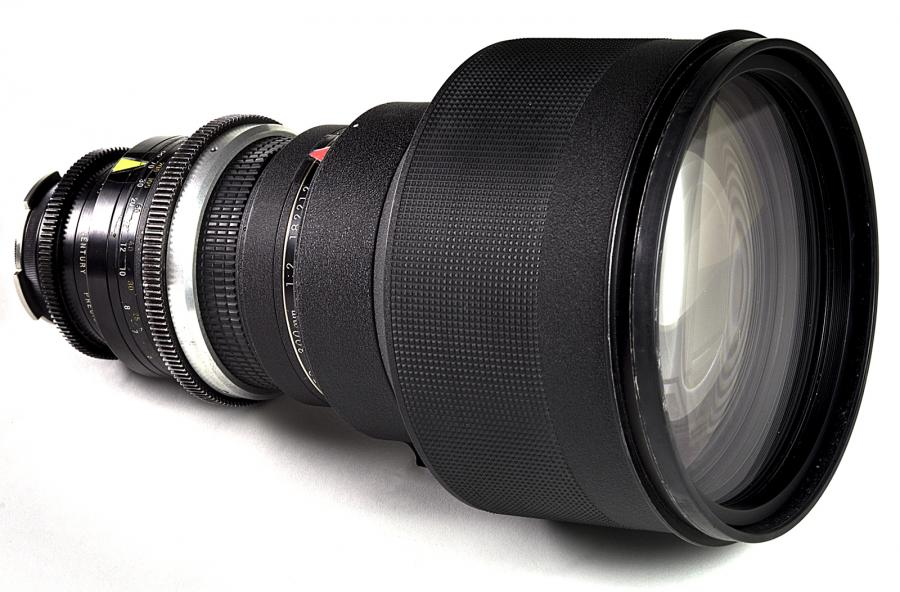 NIKON NIKKOR 300MM F/2 ED IF (CINEMATOGRAPHY MODIFIED) LENS USED