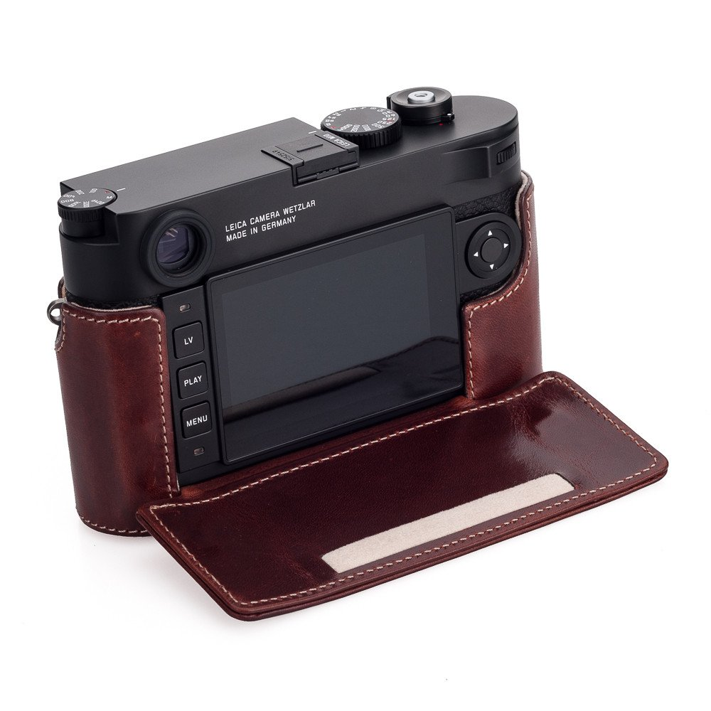 Buy Leica Vintage Brown Leather Protector Half Case Usa New