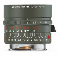 LEICA 28MM F/2 ASPH. SUMMICRON-M 'SAFARI' (6-BIT CODED) LENS #11704 USA NEW