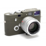 LEICA MP 0.72 OLIVE FILM CAMERA KIT w/ 35MM F/1.4 SUMMILUX SILVER LENS #10340 USED (#006/100)