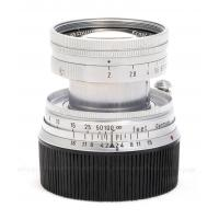 LEICA LEITZ 50MM F/2 SUMMICRON-M COLLAPSIBLE VERSION I (6-BIT CODED) SILVER M-BAYONET LENS #SOOIC-M USED