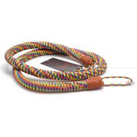 "MONARCH BOA 'RAINBOA' MULTI-COLOR PARACORD (with BROWN LEATHER) 45"" NECK STRAP NEW"
